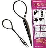 2 x 2 pezzi Topsy Tail capelli tornitore Styler acconciature l'aiuto Hair Twister fagotto passante