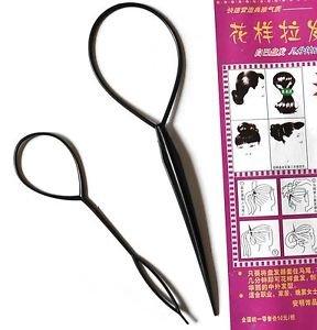 2 x 2 Stk Topsy Tail Haar Dreher Styler Frisurenhilfe Hair Twister Schlinge Schlaufe