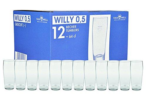 12er Set Bierglas Willibecher 0,5l geeicht