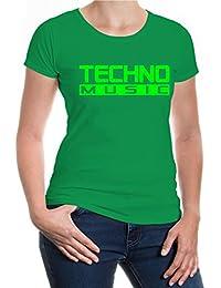 buXsbaum® Girlie T-Shirt Techno Music