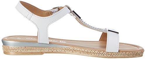 Marco Tozzi Award 28133, Sandales Compensées Femme Blanc (white Comb 197)