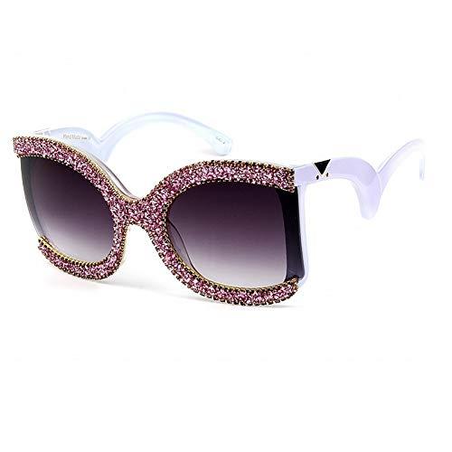 Taiyangcheng Polarisierte Sonnenbrille Mode cat Eye Sonnenbrille Frauen kleine Diamant randlose Brille Marke Herren sonnengase Designer Mode weibliche gradienten Shades,A2