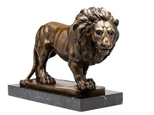 aubaho Bronze Skulptur Figur Löwe Bronzeskulptur 38cm Bronzefigur Sculpture Lion