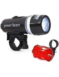 CDC® Rechargeable Bike Light Set - 3000 lumens LED Cree T6 U2 Brillant Phare pour Front & Tail Lumière de sécurité pour Vélos Mont Cadre