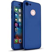 3en 1Híbrido 360grado delantera y trasera a prueba de golpes carcasa con [de oro rosa] de pantalla de cristal templado para Apple Iphone 6/6S 77Plus, azul marino, iPhone 6/6s Plus