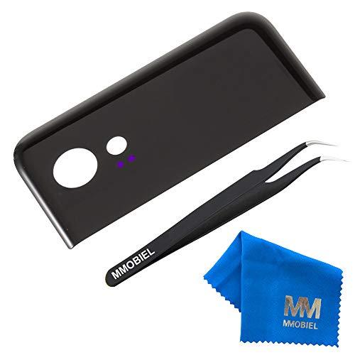 MMOBIEL Glas Linse von Hauptkamera Kamera Ersatz kompatibel mit Google Pixel 2 (Schwarz) 5.0 inch mit Pinzette und Tuch