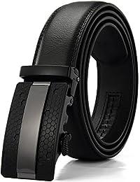 Xhtang-Ledergürtel Herren Automatik Gürtel mit Automatikschließe-3,5cm Breite