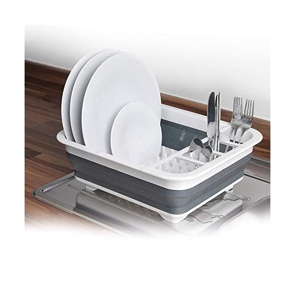 New Collapsible Dish Drainer Large Folding Dish Draining Board Plates Cutlery Rack Sink 2