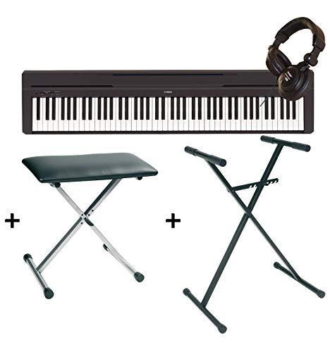 Pack Digitalpiano Yamaha P45schwarz + Halterung + Sitzbank + Kopfhörer