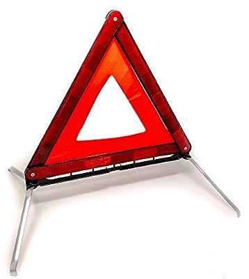 Latskrap Warndreieck Euro mit Aufbewahrungskoffer, ECE Zertifiziert - Sicherung von Unfall- und Gefahrenstellen