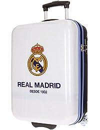 Real Madrid Club Equipaje Infantil, 55 cm, 34 Litros, Blanco