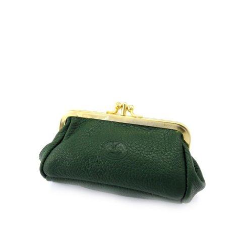 Frandi [K3908] - Porte-monnaie Cuir 'Frandi' vert grainé
