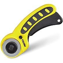PRETEX Rollschneider mit Schutzmechanismus   2 Jahre Zufriedenheitsgarantie   Rollmesser, Stoffschneider, Rollenschneider