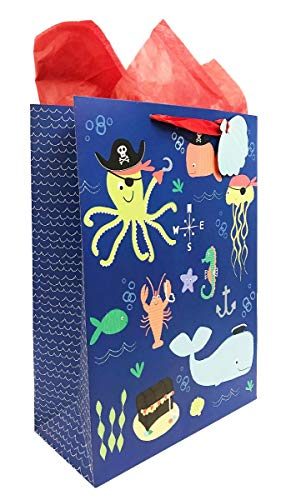 Extra Large Under Sea Bag + 2 Red Tissue Sheets