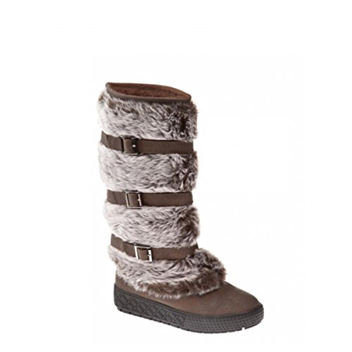 Bottes hiver très hautes et très chaudes, avec de la fourrure extérieure, chaussures femme, modèle 11064104001332, marron, différents modèles et tailles. Marron.