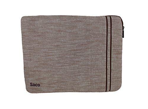 Saco Washable Fabric Laptop Notebook Ultrabook Sleeve Bag Zipper Case with accessories adapter pocket suitable for Lenovo Essential G500 (59-403742)Laptop - 15.6 inch - Brown  available at amazon for Rs.560