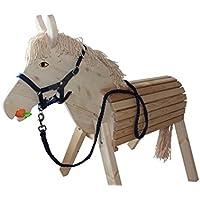 Helga Kreft Holzpferd Susi, Spielpferd, Gartenpferd mit absenkbarem Kopf