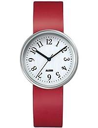 Alessi AL6012-Armbanduhr Analog Automatik Analog Leder Schwarz