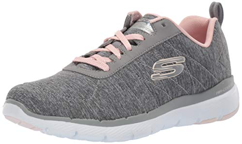 Skechers Damen Flex Appeal 3.0-insiders Sneaker, Grau (Grey Light Pink Gylp), 38 EU (Schuhe Skechers Frauen)