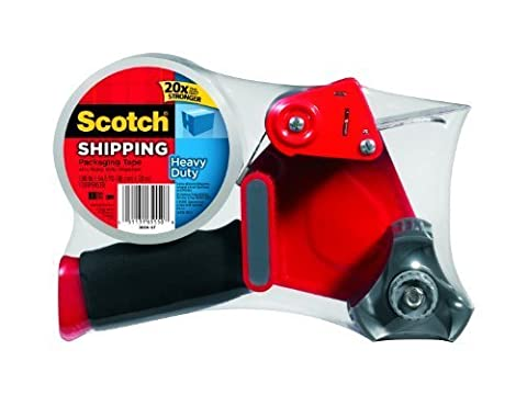 Scotch Heavy Duty Shipping Packaging Tape with Heavy Duty Dispenser, 1.88 Inches x 54.6 yd, 2-PACK by Minn. Mini