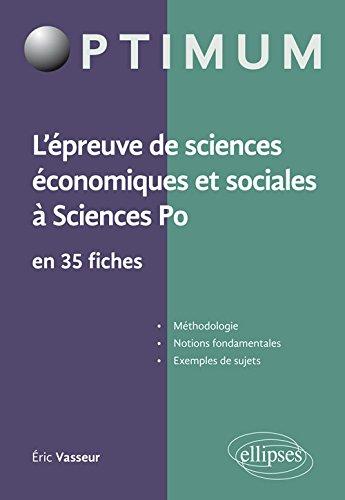 L'preuve de Sciences conomiques et Sociales  Sciences Po en 35 Fiches