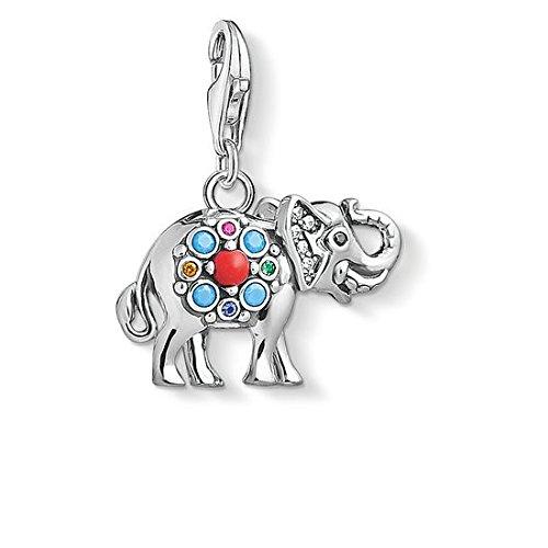 Thomas Sabo Mujer Colgante Charm Elefante indio Charm Club Plata de ley 925  1668-506-7