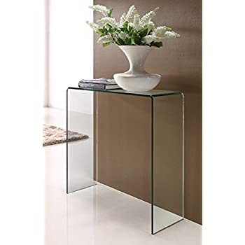 Glass Console Table Small Amazoncouk Kitchen Home
