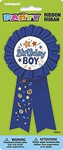 Unique Party Condecoración de cumpleaños Birthday Boy (90601) , Modelos/colores Surtidos, 1 Unidad