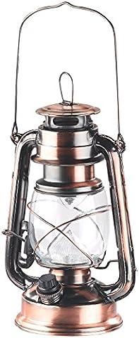 Lunartec LED Laterne: Dimmbare LED-Sturmlampe mit Akku, bronze, 30 Lumen,