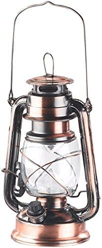 Lunartec Sturmlaterne: Dimmbare LED-Sturmlampe mit Akku, Bronze, 30 Lumen, 1,2 Watt (Petroleumlampe LED dimmbar) - Laterne Led-vintage