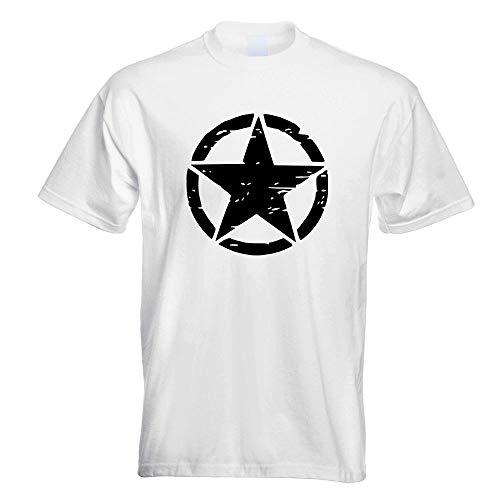 United States Army Star T-Shirt Motiv Bedruckt Funshirt Design Print