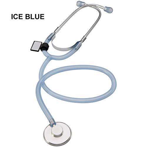 BLUEDYYY Einzelkopf-Stethoskop geeignet für das Abhören des fetalen Herzfrequenz-Patienten-Blutdruck-Geschenks für Erwachsene Krankenschwester Doktor Medical Student 22 Zoll 3 Farben,Blue