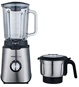 Cookhouse 800W Multi Blender with Bonus Spice/Coffee Grinder - High Power Professional Appliance for Smoothies, Soups, Iced Drinks, Recipes - 1.5L Capacity, Removable Parts for Easy Cleaning