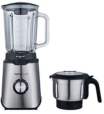 Cookhouse 800W Multi Blender with Bonus Spice/Coffee Grinder - High Power Professional Appliance for Smoothies, Soups, Iced Drinks, Recipes - 1.5L Capacity, Removable Parts for Easy Cleaning by Cookhouse