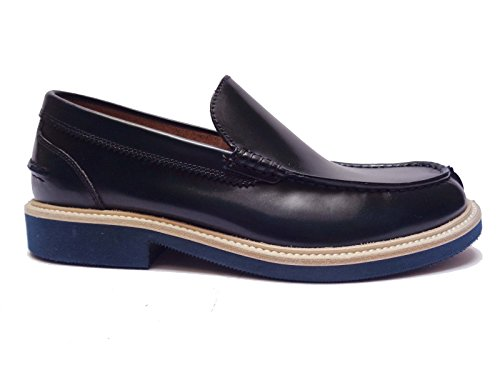 Antica Cuoieria scarpe da uomo mocassini in pelle col. Blu, num. 40
