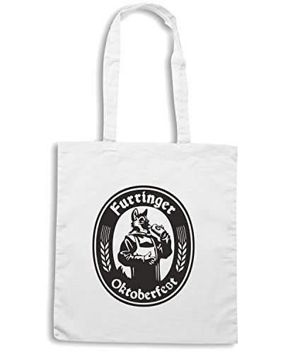 T-Shirtshock - Borsa Shopping BEER0059 Furringer Oktoberfest Bianco