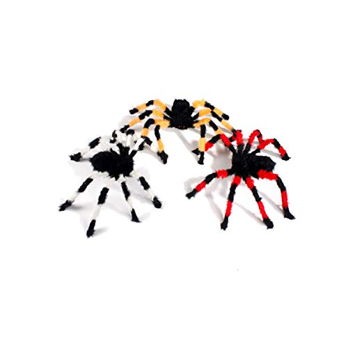 (Blisfille Halloween Allerheiligen Schrecken Ghost Festival Bar Dekoration Requisiten Plüsch Spinne Simulation Spinne Falsche Spinne Schwarze Spinne 125 Cm200G)