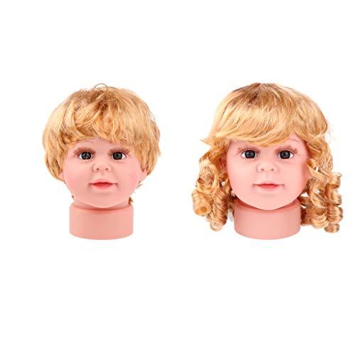Homyl 2 STÜCKE Baby Girl \u0026 Boy Schaufensterpuppe Puppe Perücke Kind Brille Hut Display S
