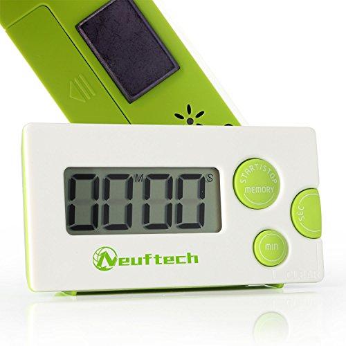 Neuftech® digitaler Kitchen Timer Küchenwecker Kurzzeitmesser stoppuhr mit Magnet und LCD Display - grün