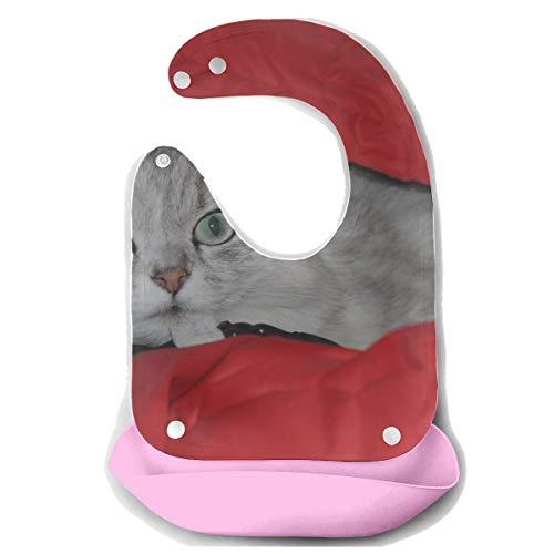 Enhusk Lätzchen Für Baby Perserkatze Chinchilla Katze Silber Chinchilla Abnehmbare Silikon Futterschürze Mäusetuch Baby Fütterung Dribbeln Sabber Lätzchen Säuglingsbaby Lätzchen Kleid -