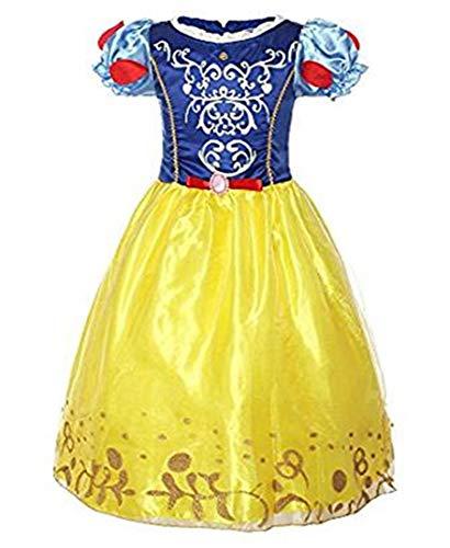 CMFashion Mädchen Schneewittchen Kostüm Prinzessin Kleid 2-8 Jahre, Größe 116