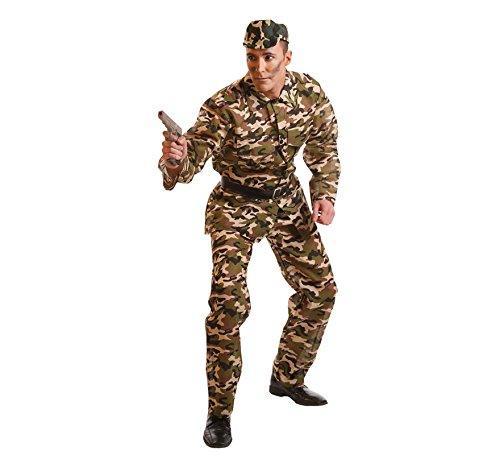 Imagen de disfraz de militar de camuflaje para hombre