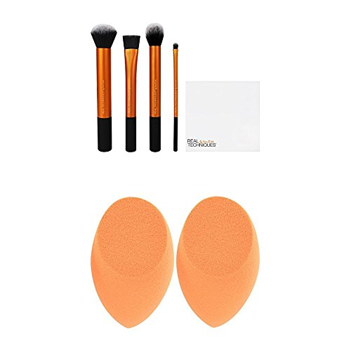 Real Techniques Flawless Base Set with Miracle Complexion Sponge, Pack of 2