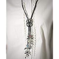 Collar largo ajustable en zamak estilo uno de 50 con 4 colgantes en forma de libélula.