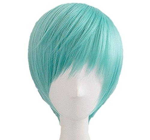 Ichigo Hitofuri Perücke Touken Ranbu Ichigo Cosplay Wig Kurz Grün Halloween Kostüm Haar (Halloween Zubehör Haar Kostüme)