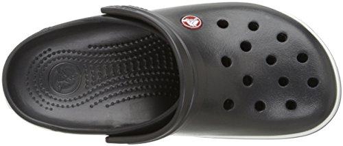 crocs Unisex-Erwachsene Crocband Clogs Schwarz (Black)
