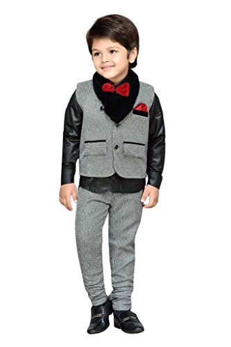 AJ Dezines Kids Party Wear Suit Set for Boys (783_GREY_8)