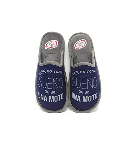Se me ríen los pies - Zapatillas de casa Hombre yo no Ronco - Marino, 43