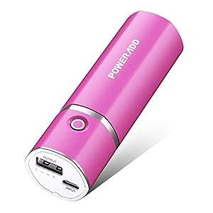 Poweradd Slim 2 – Batería externa 5000mAh power pack para smartphones, cámaras digitales y MP3(Rosa)