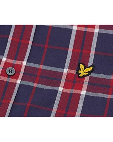 Lyle & Scott Homme Logo chemise à carreaux, Rouge Rouge